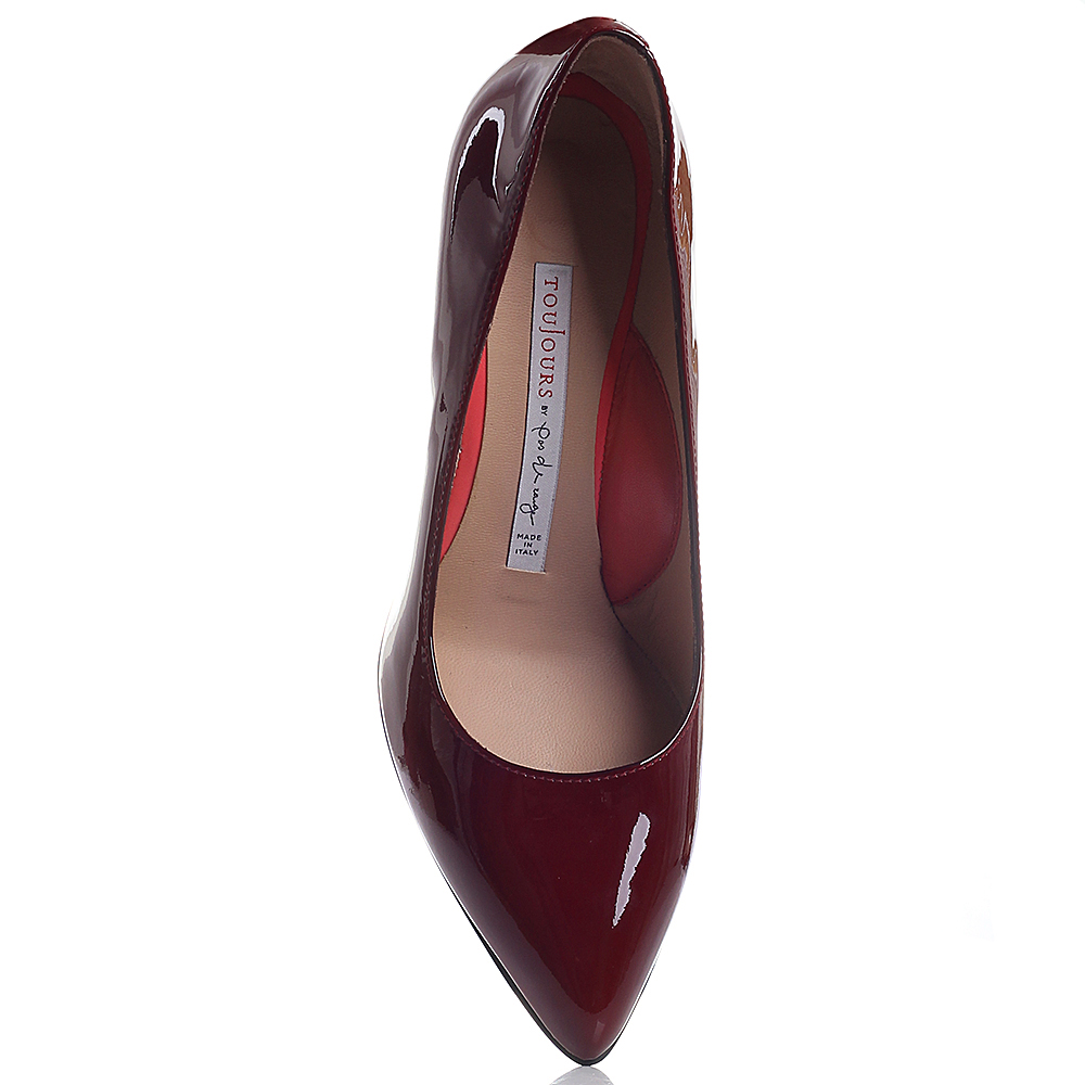 Туфли Toujours by Pas De Rouge с лаковым блеском бордового цвета