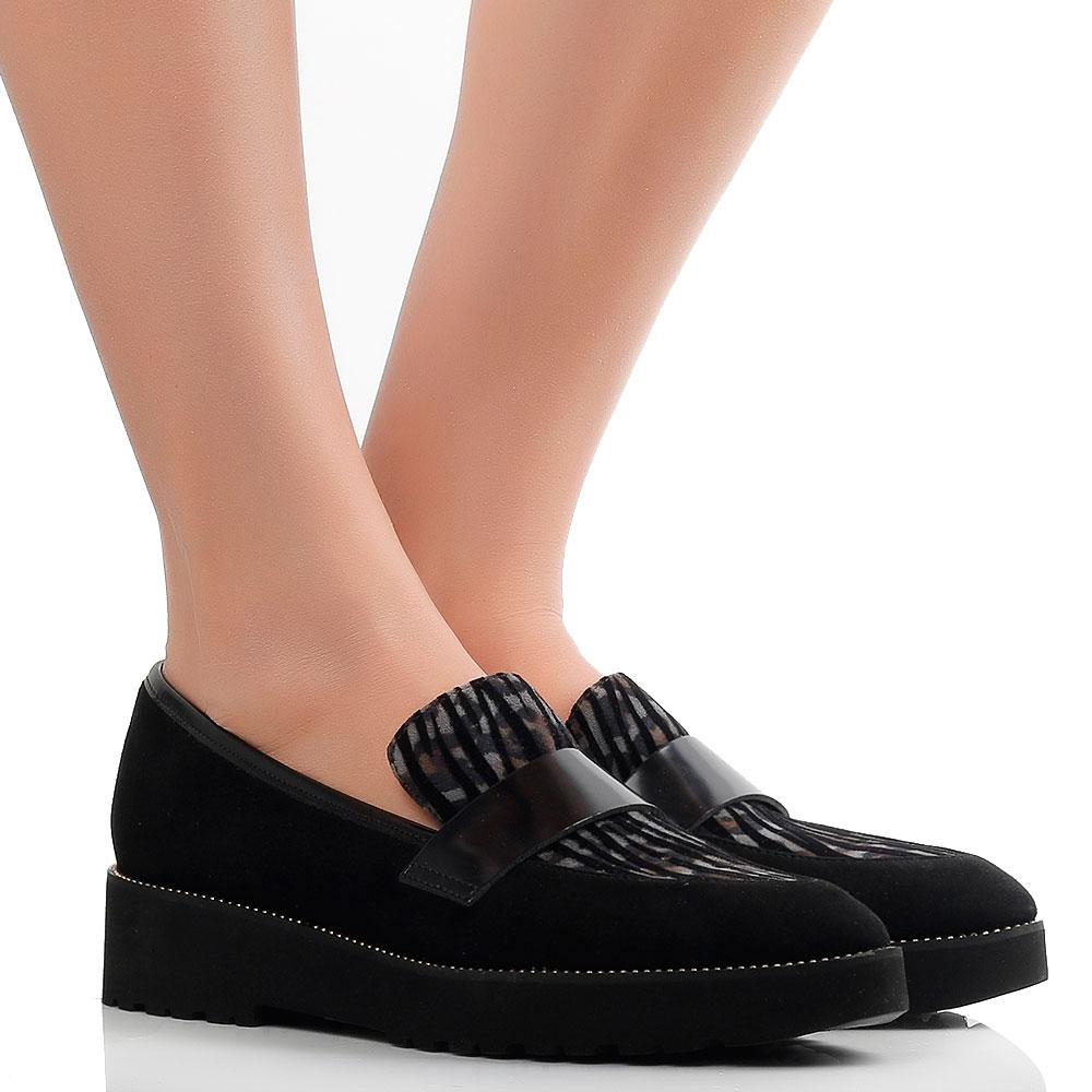 Туфли-лоферы Status из черной замши