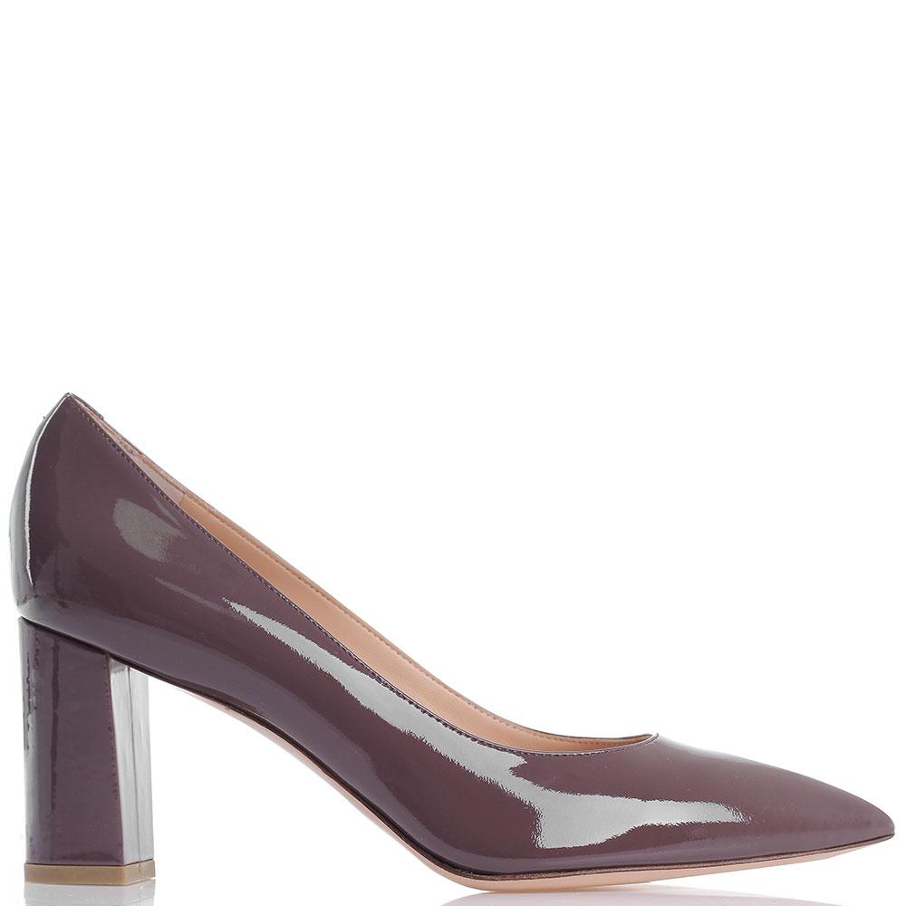 Лаковые туфли Dyva с острым носочком коричневого цвета