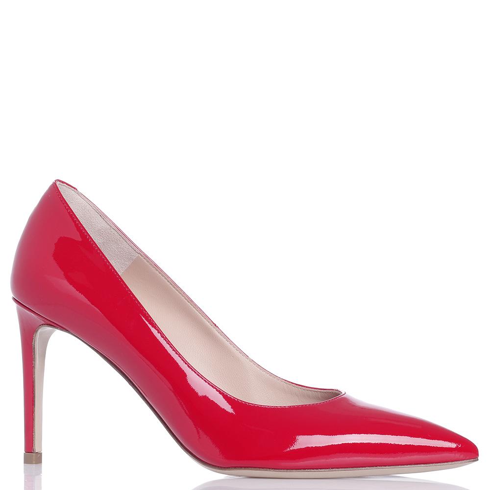 Лаковые туфли Dyva из кожи красного цвета