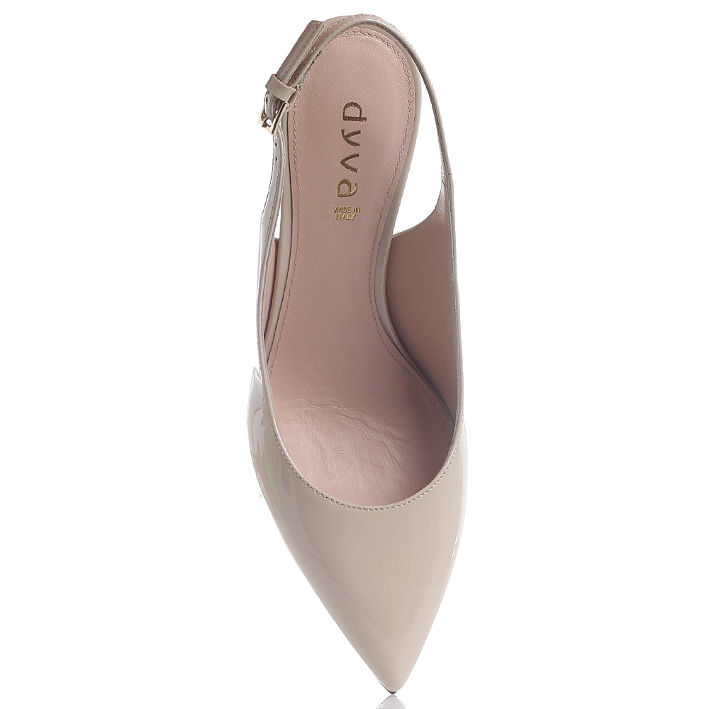 Туфли-слингбеки Dyva бежевого цвета на шпильке