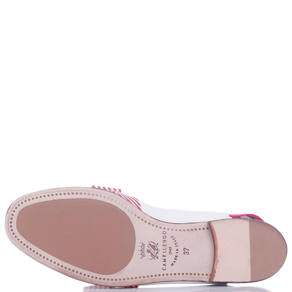 Туфли-слингбеки Redwood с полосатым бантом