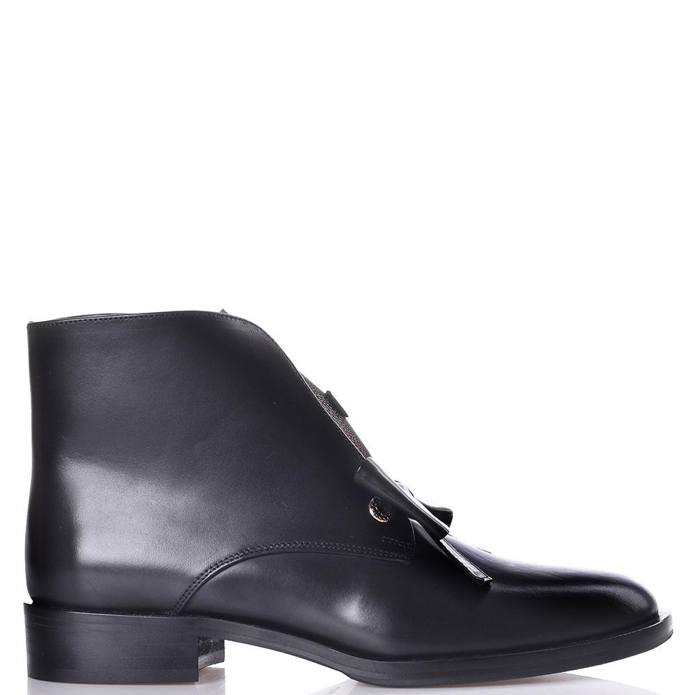 Черные ботинки Helena Soretti с декором в виде банта