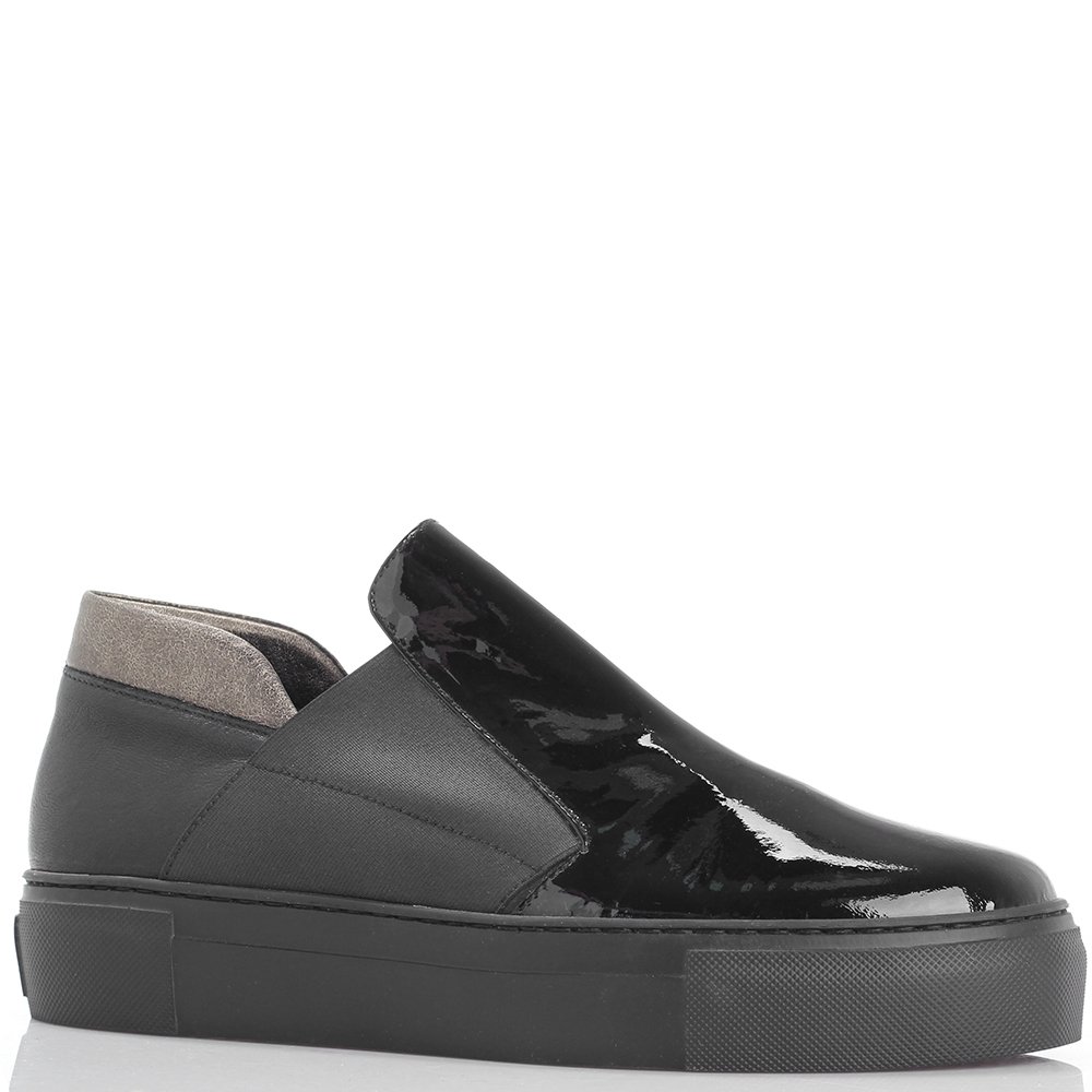 Туфли Laura Bellariva из кожи черного цвета на платформе