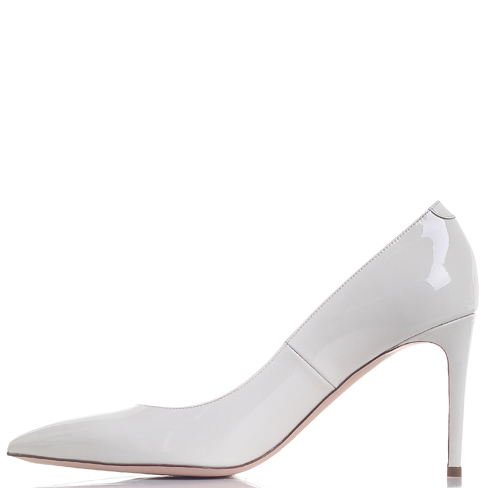 Туфли-лодочки Dyva из лаковой кожи белого цвета