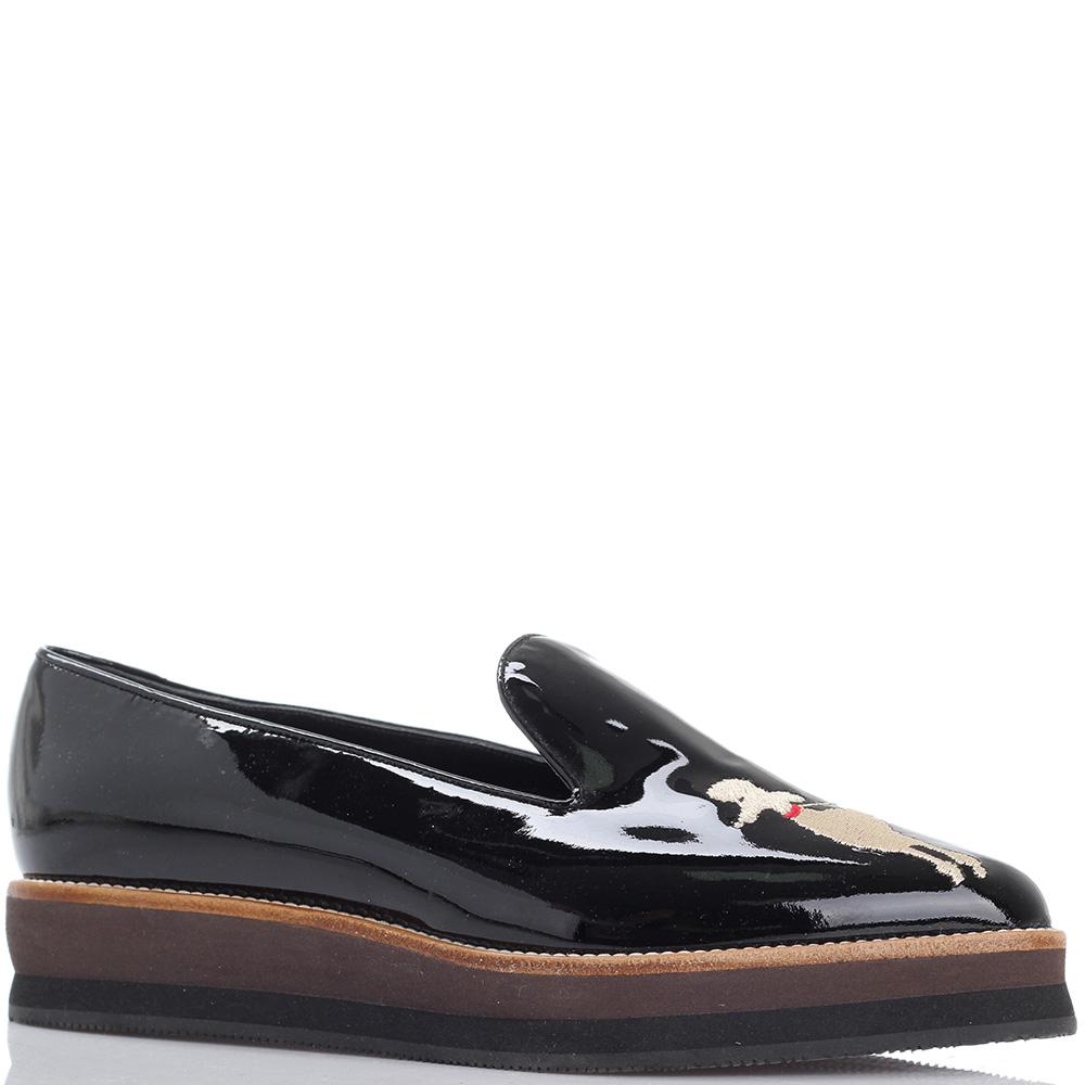 Черные туфли Susy из лаковой кожи на платформе