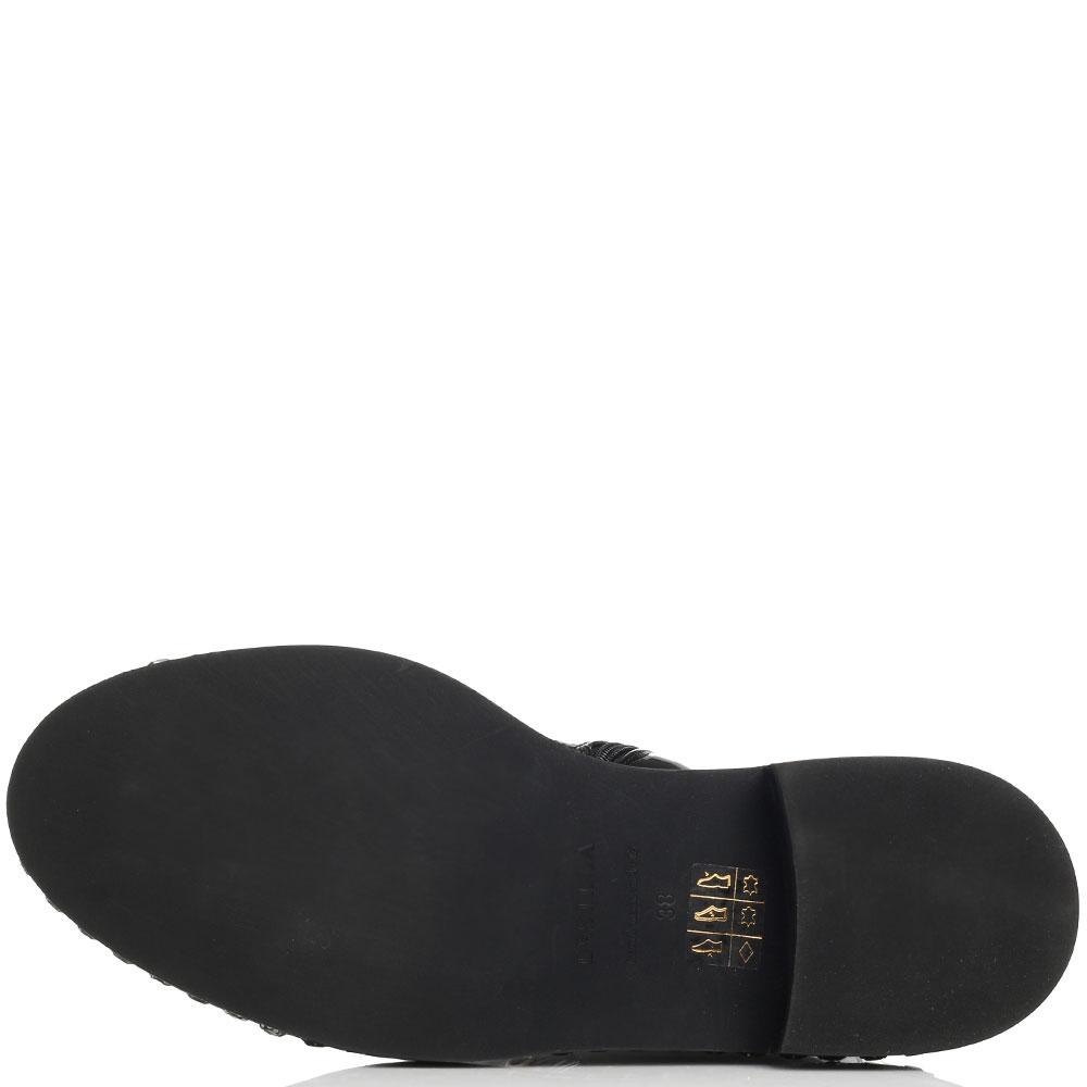 Лаковые ботинки Le Silla со стразами вдоль подошвы