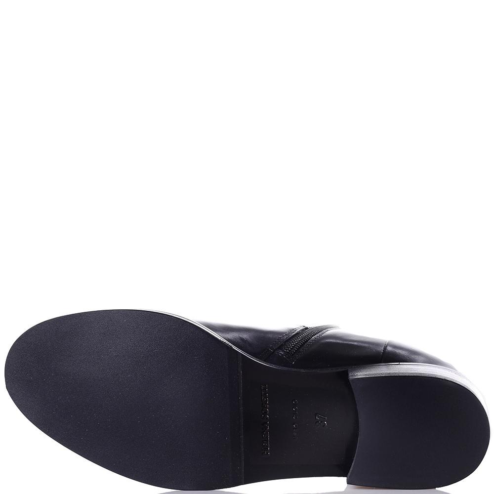 Черные сапоги Helena Soretti с декором в форме банта