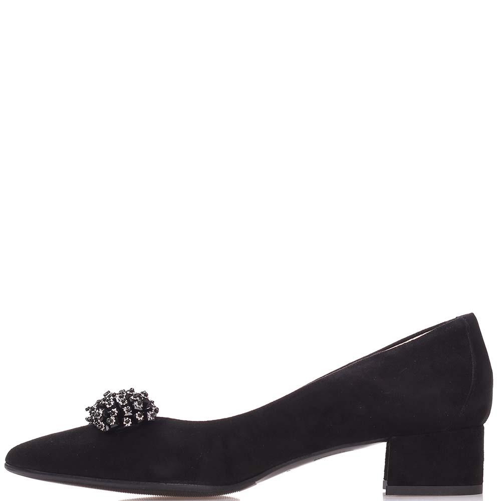 Туфли Fabio Di Luna черного цвета со стразами