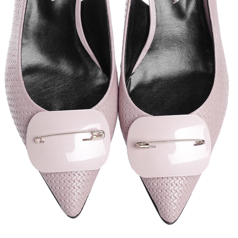 Розовые босоножки Fabio Di Luna с тиснением на коже