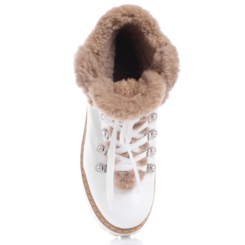 Белые ботинки Le Silla с декором-стразами