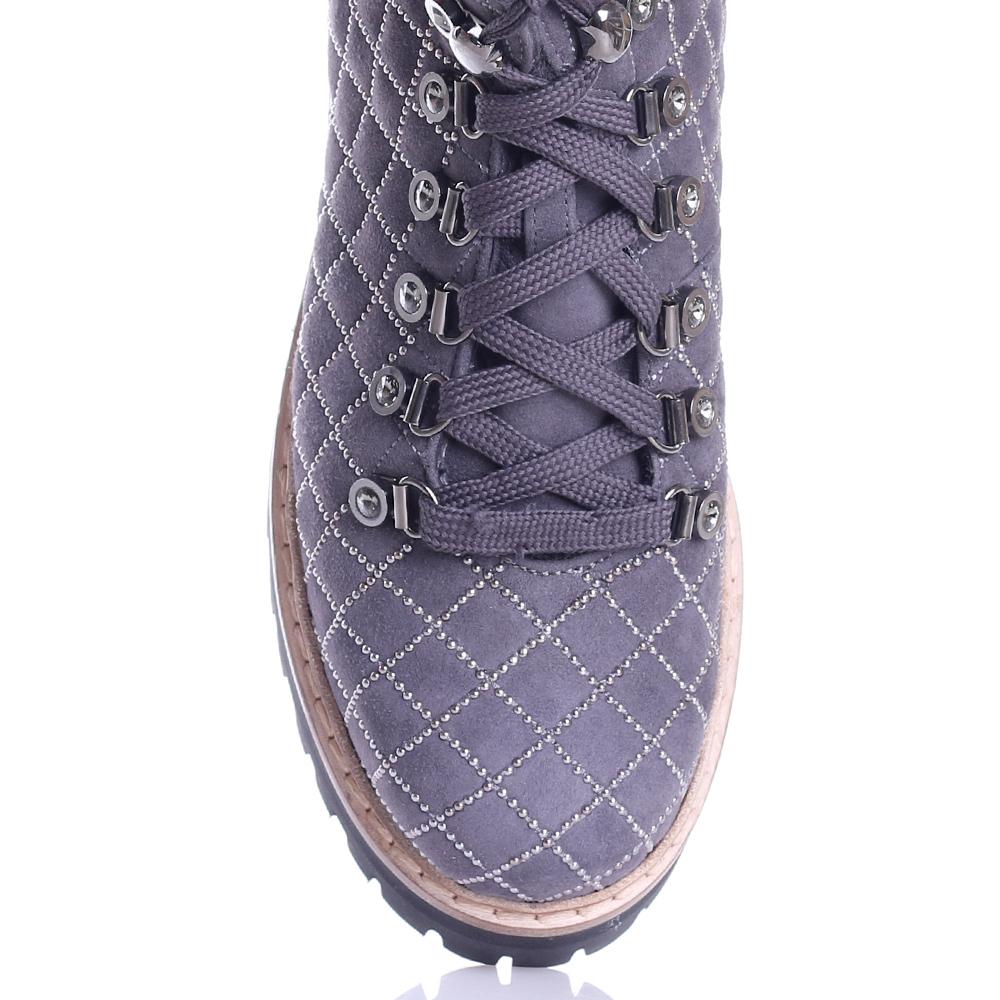 Серые ботинки Le Silla на скрытой танкетке