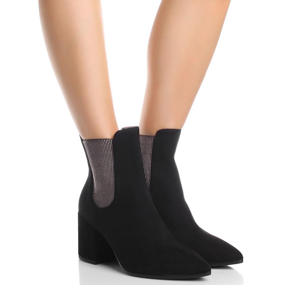Ботинки-челси Fabio Di Luna из замши черного цвета