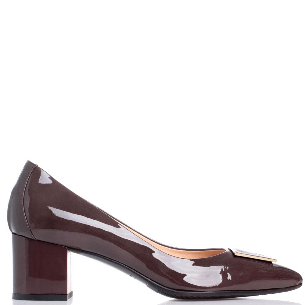 Коричневые туфли Fabio Di Luna из лакированной кожи