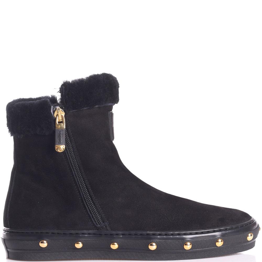 Черные ботинки Baldinini с золотистыми заклепками