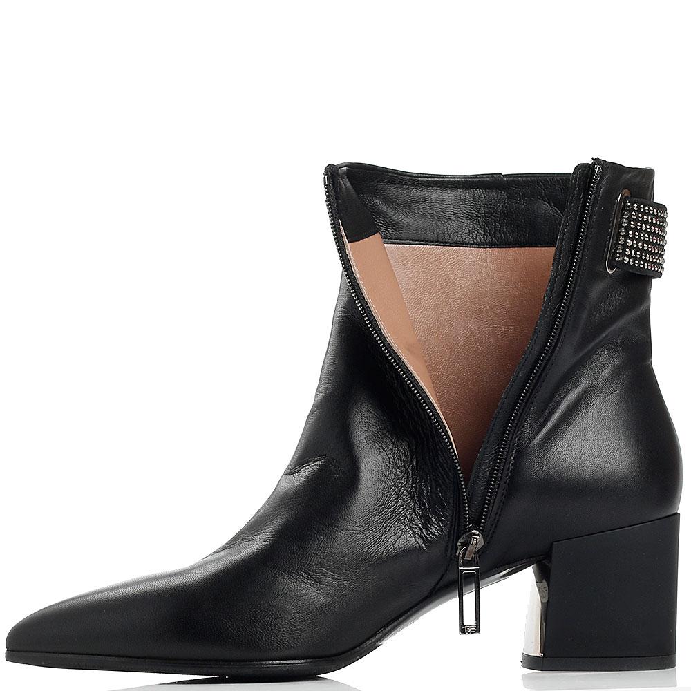 Черные ботинки Marino Fabiani с острым носком