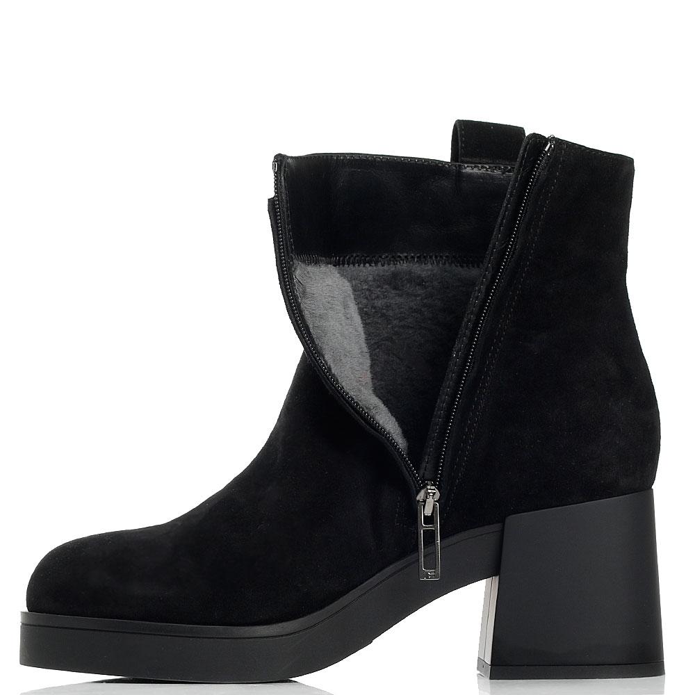Замшевые ботинки Marino Fabiani с декором-камнями
