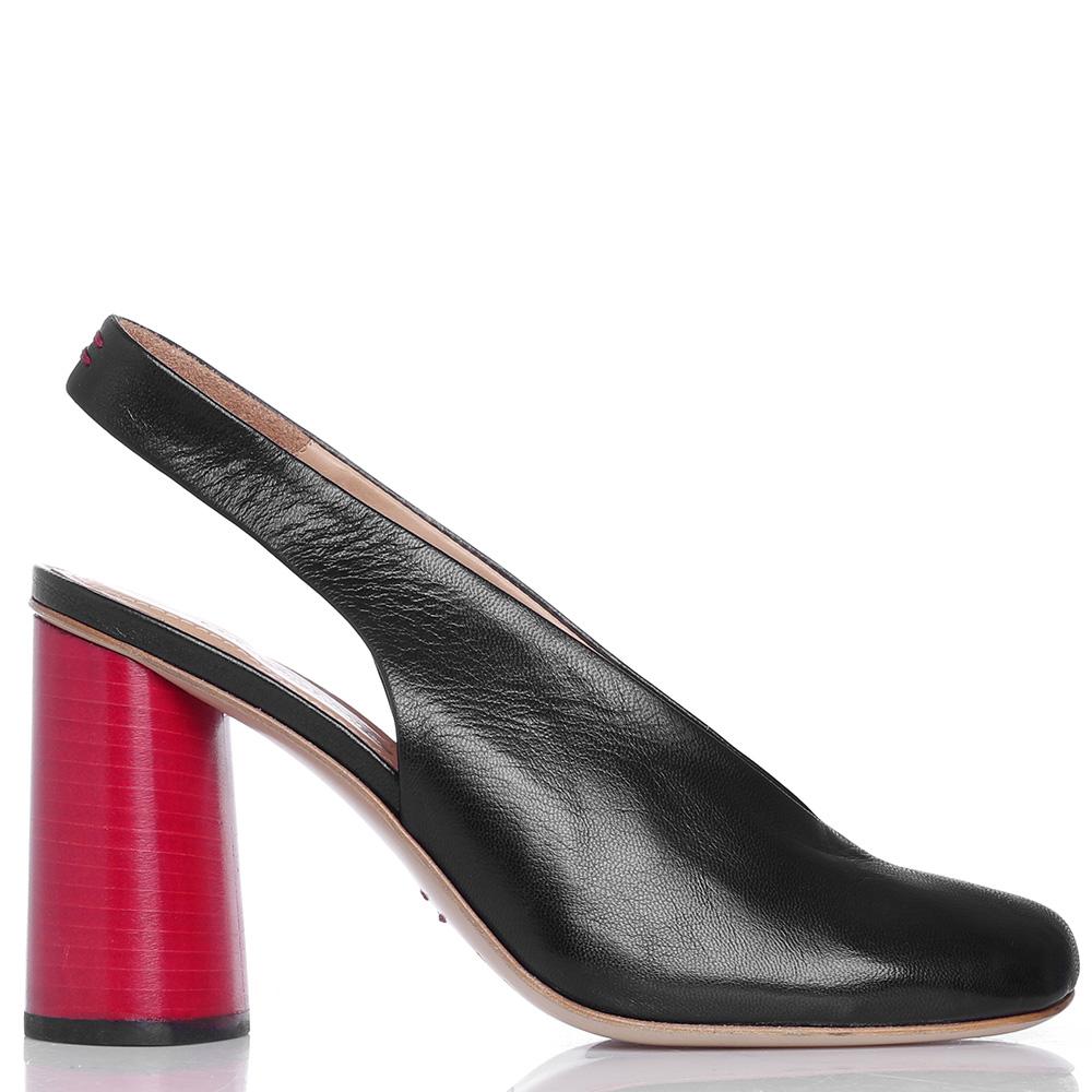 Туфли-слингбэки Halmanera с красным каблуком