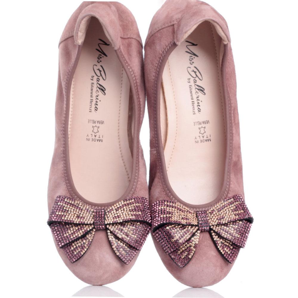 Балетки Gianni Renzi Miss Ballerina с декором в виде банта