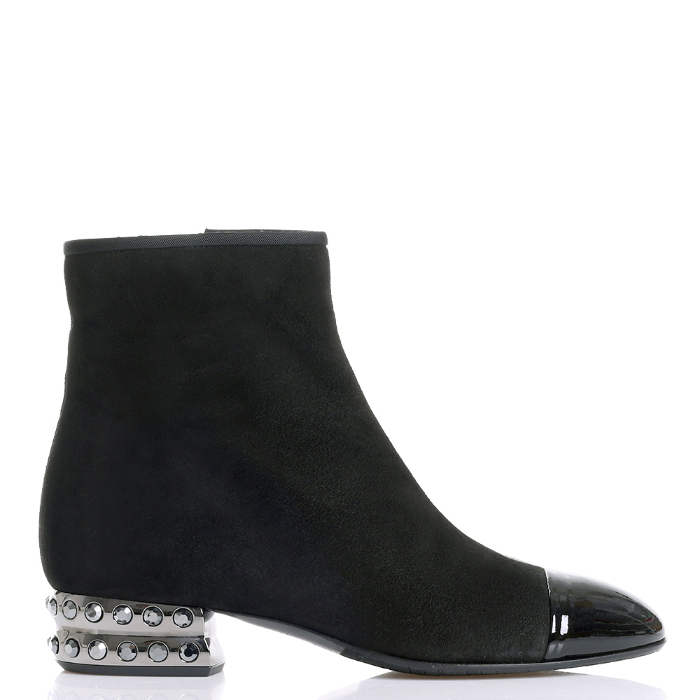 Ботинки Giovanni Fabiani со стразами на каблуке