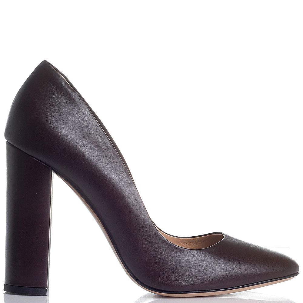 Коричневые туфли Marco Barbabella на высоком устойчивом каблуке
