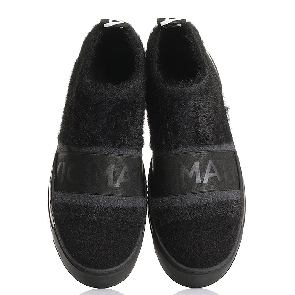 Слипоны Vic Matie черного цвета на платформе