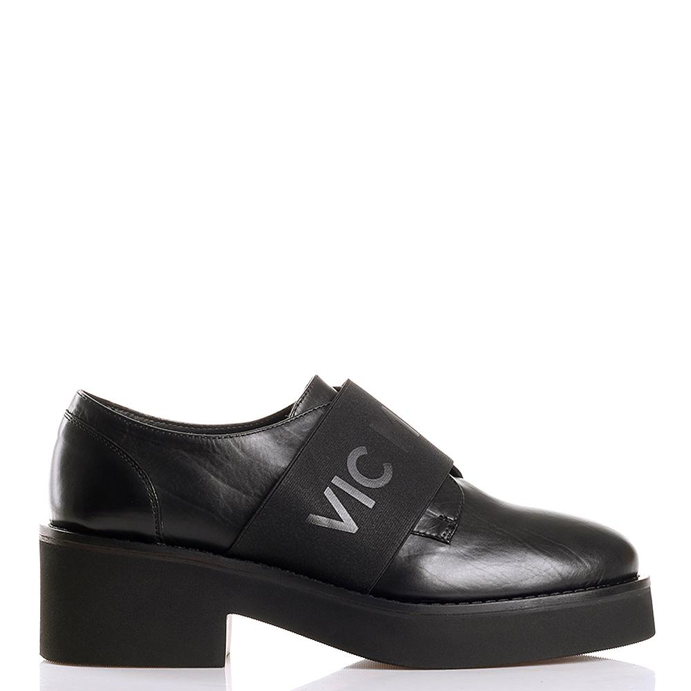 Туфли Vic Matie черного цвета на толстой подошве