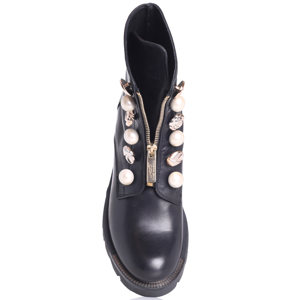 Черные ботинки Tosca Blu с декоративными пуговицами
