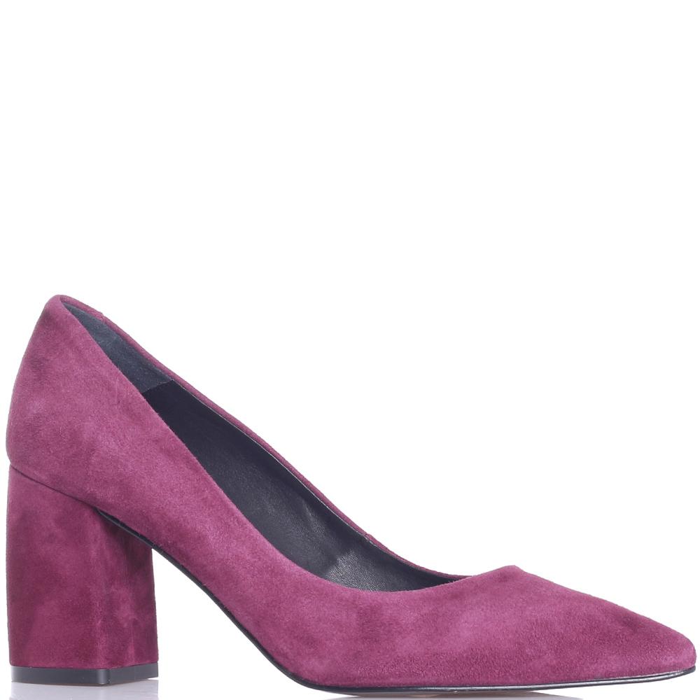 Фиолетовые туфли Tosca Blu на устойчивом каблуке