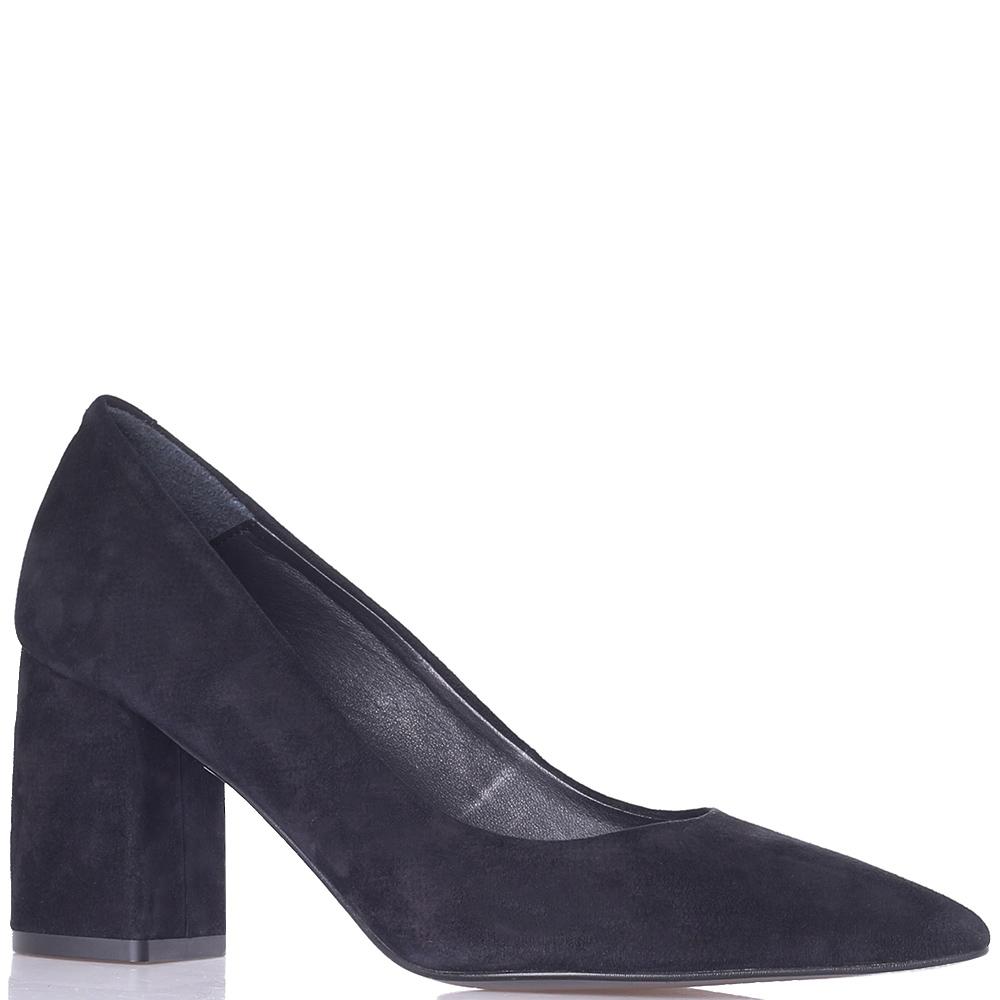 Замшевые туфли Tosca Blu с острым носком