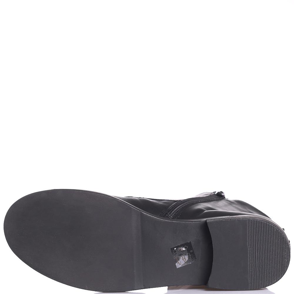 Черные ботинки Tosca Blu с принтом на язычке