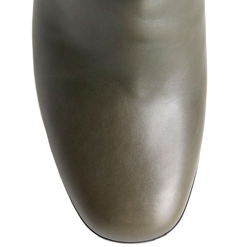 Кожаные демисезонные сапоги Hestia Venezia из кожи зеленого цвета
