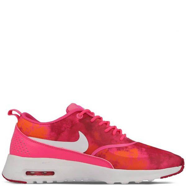 Кроссовки Nike Rocherun Print женские розового цвета с абстрактным рисунком