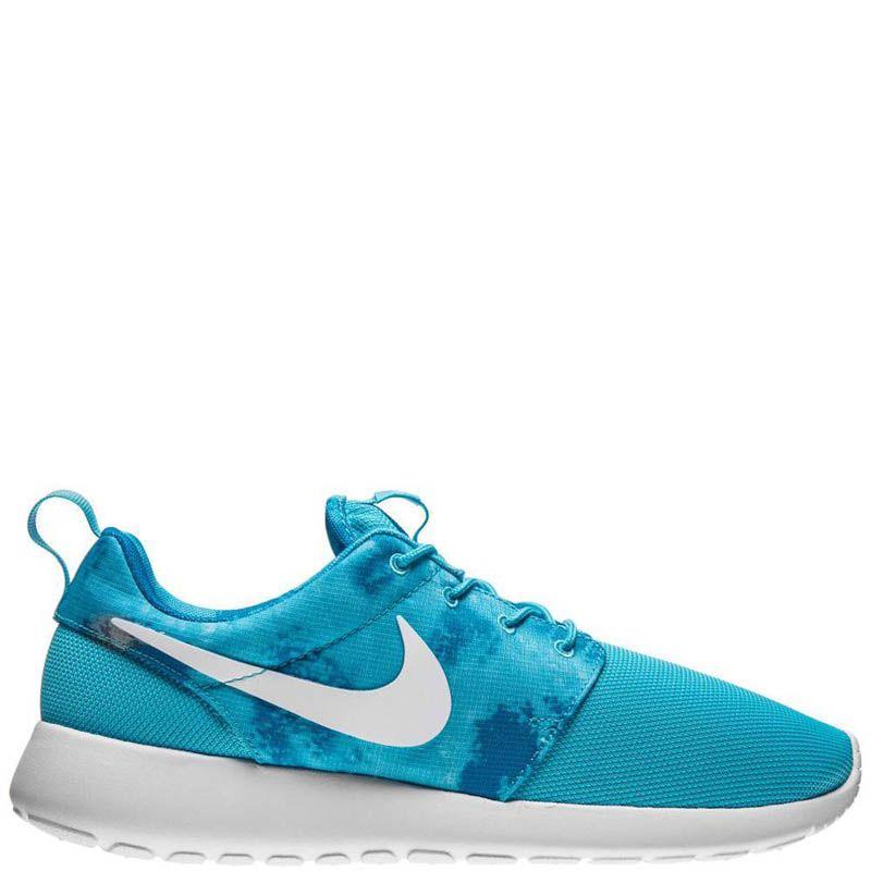 Кроссовки Nike Rocherun Print женские синего цвета