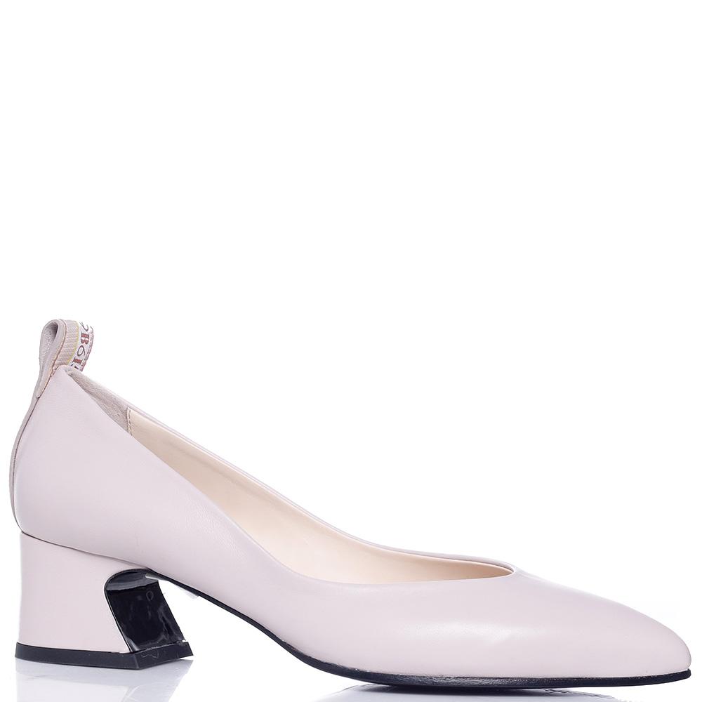 Бежевые туфли Fabi на устойчивом каблуке