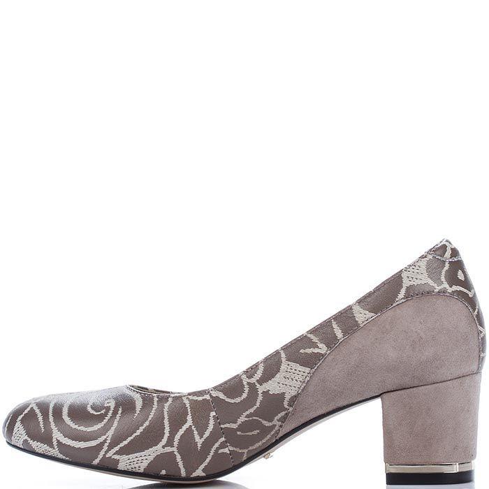 Туфли Modus Vivendiиз кожи в кофейных оттенках на невысоком каблуке