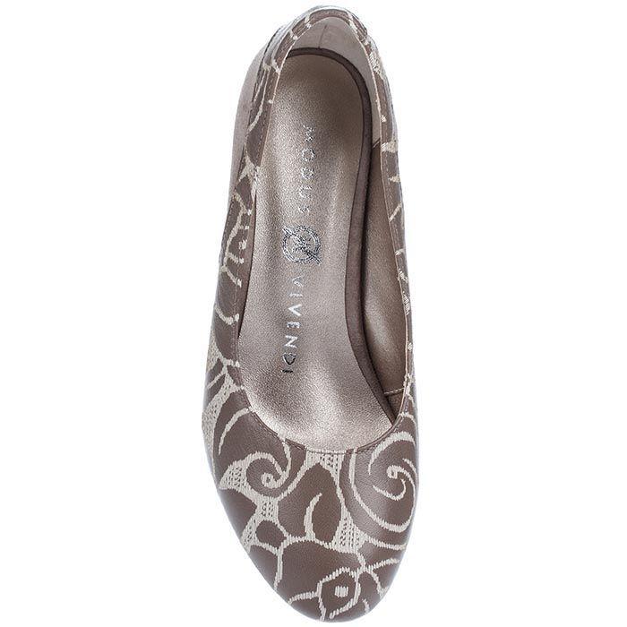 Туфли Modus Vivendiиз натуральной кожи в кофейных оттенках на невысоком каблуке