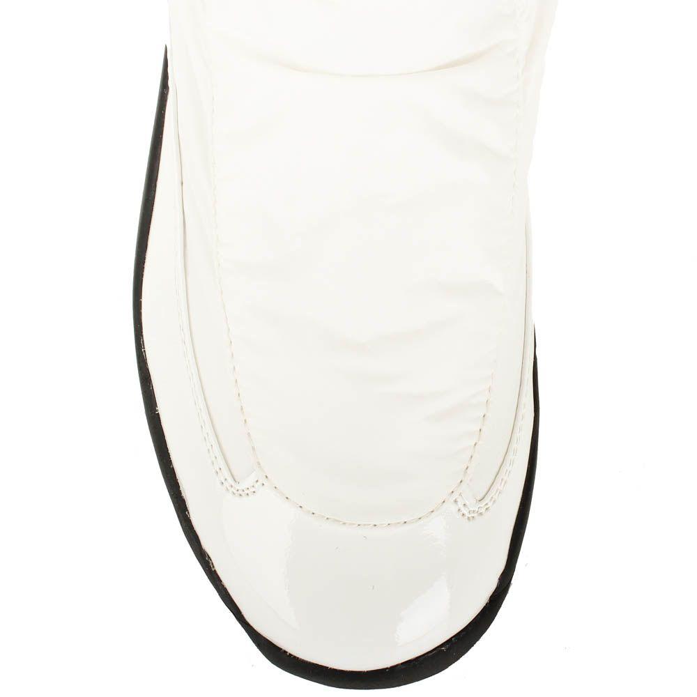 Сапоги Baldinini из натуральной кожи белого цвета на черной подошве