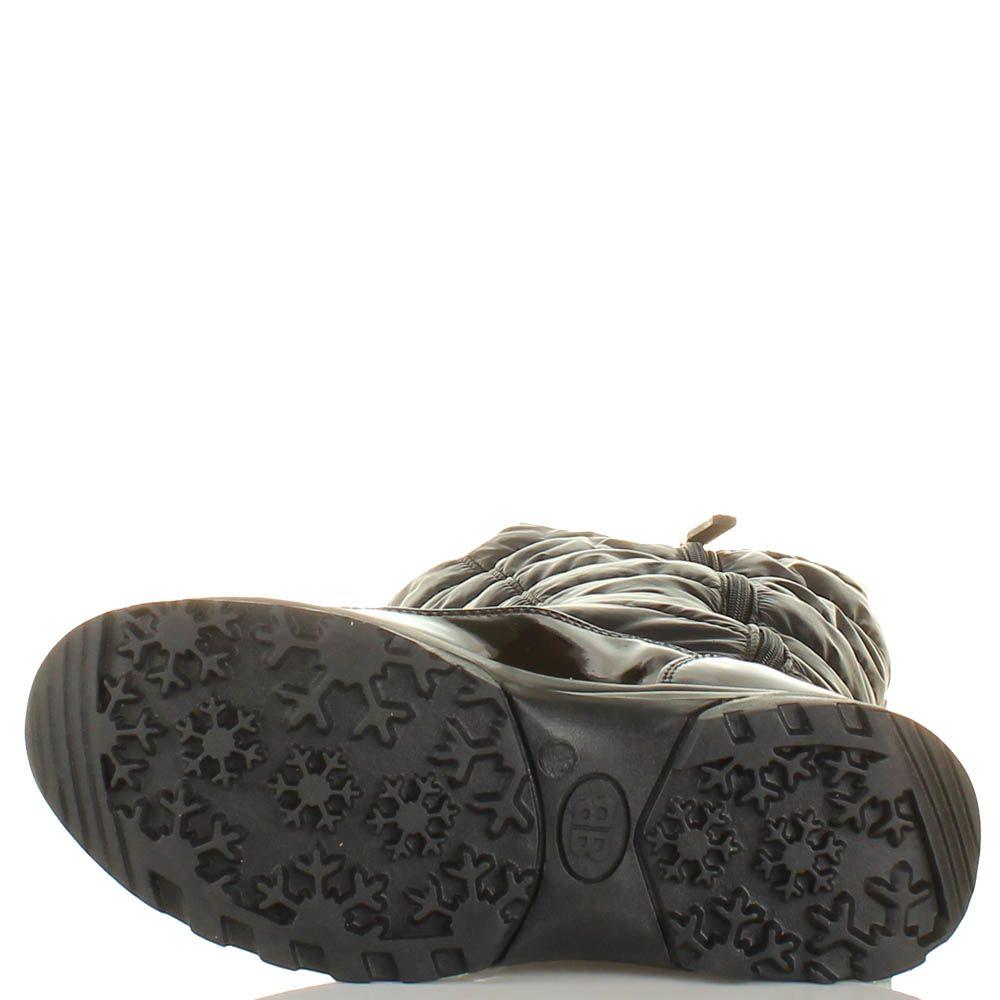 Зимние сапоги Baldinini из натуральной кожи стеганные