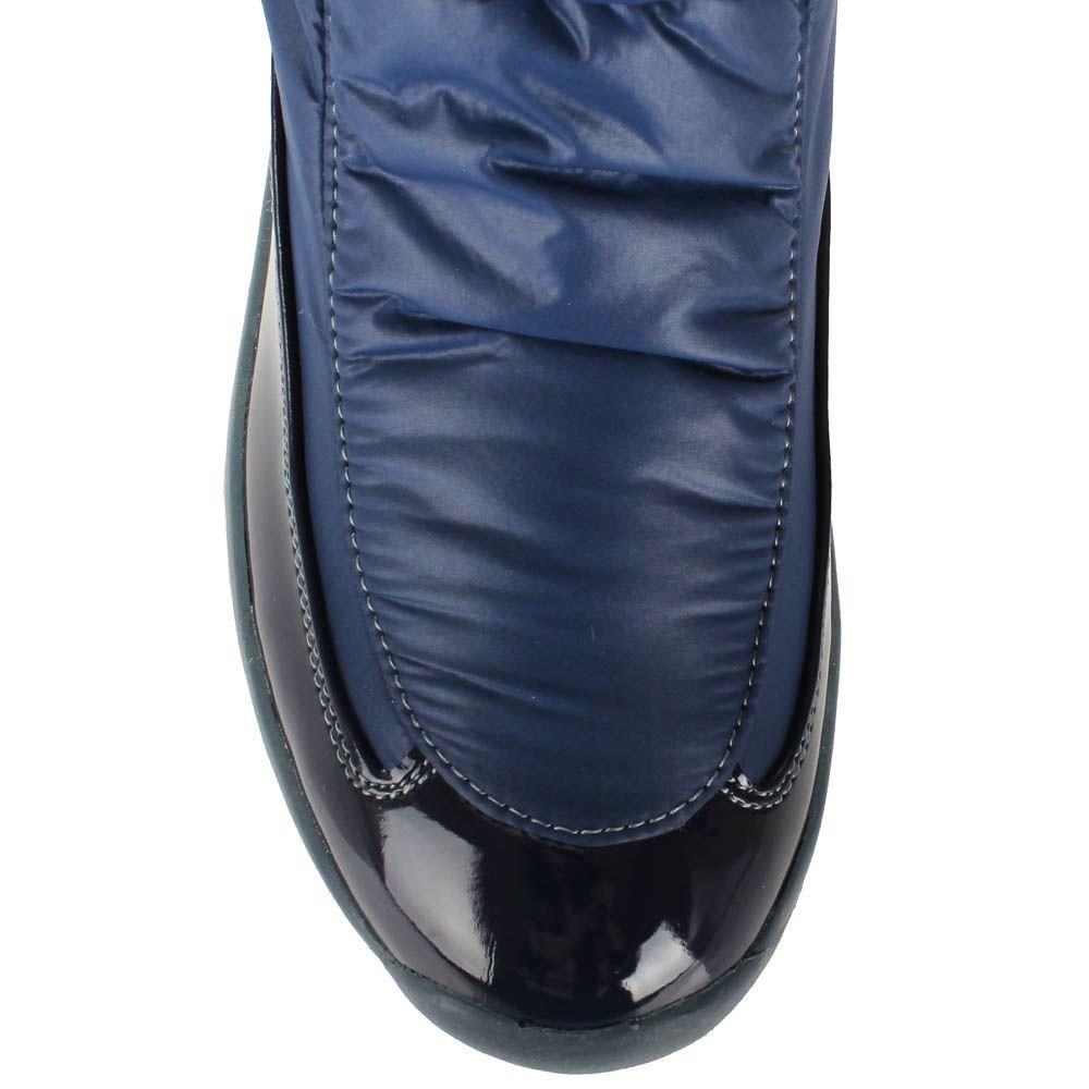 Сапоги-дутики Baldinini из натуральной кожи синего цвета