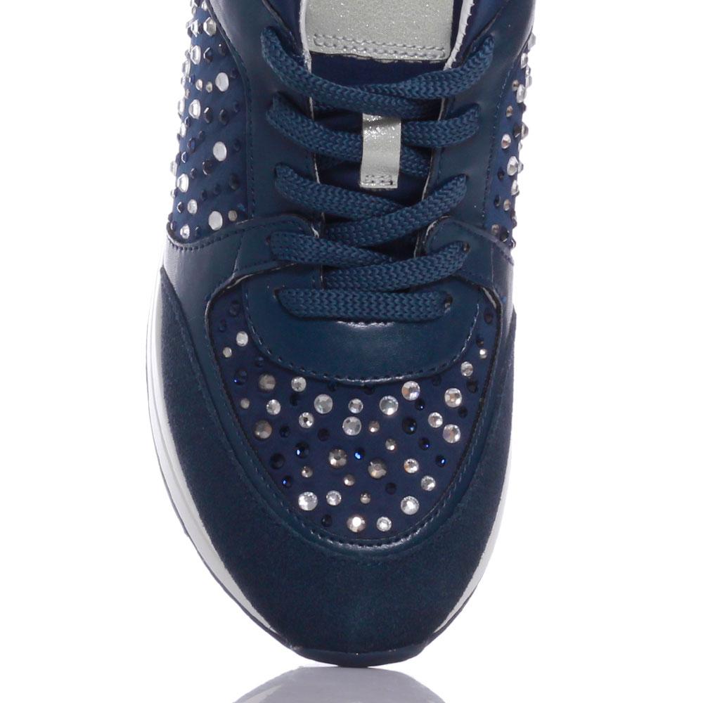 Кроссовки синие Liu Jo со стразами