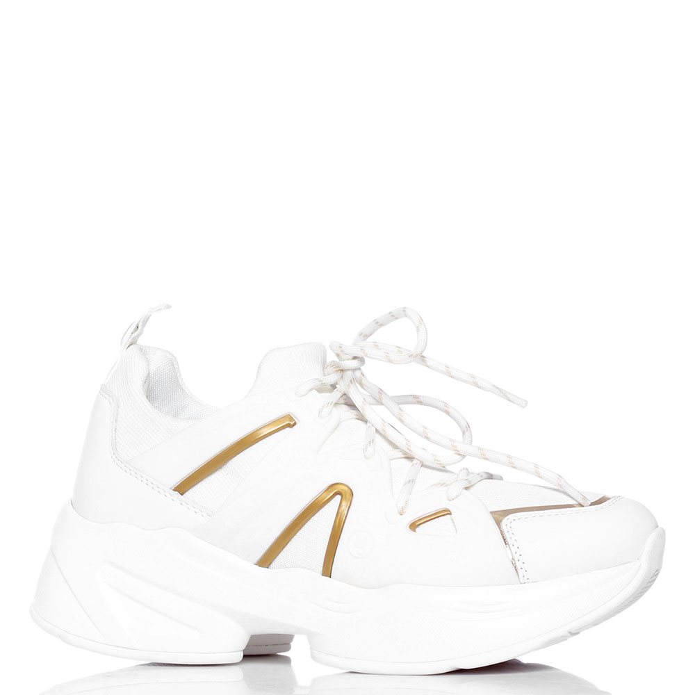 Белые кроссовки Liu Jo на толстой подошве