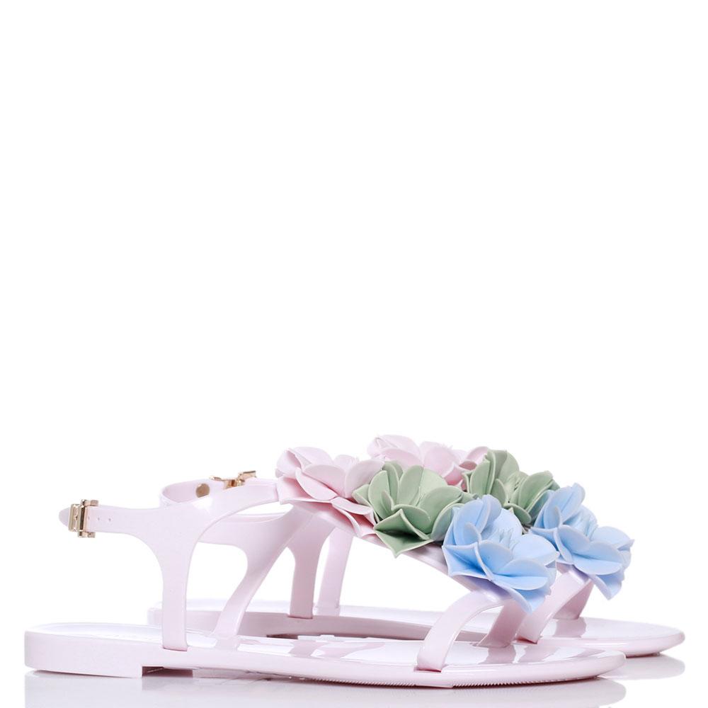 Розовые сандалии Menghi с крупными цветами