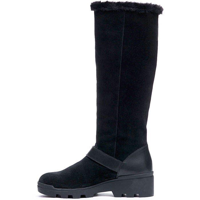 Замшевые высокие сапоги на меху Modus Vivendi черного цвета