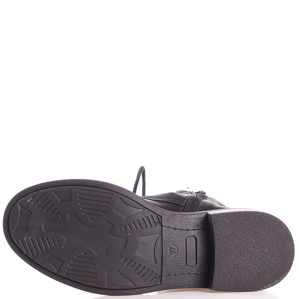 Черные ботинки Mally из мягкой кожи