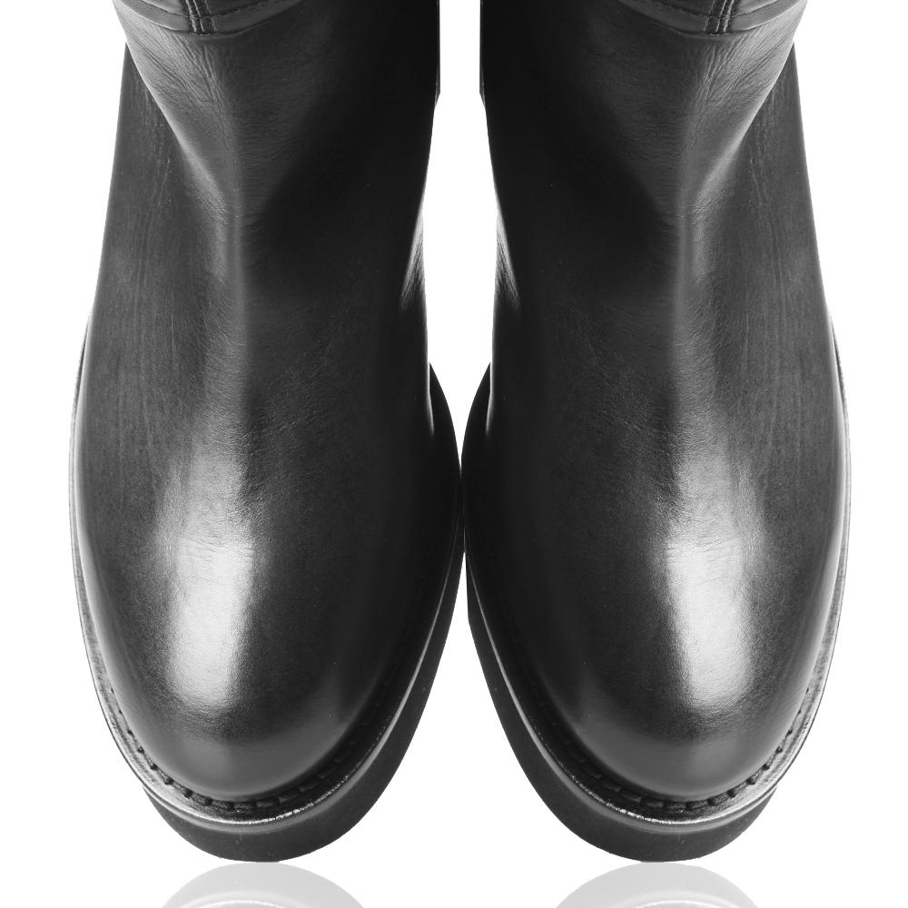Черные ботфорты Vic Matie с декором-ремешками