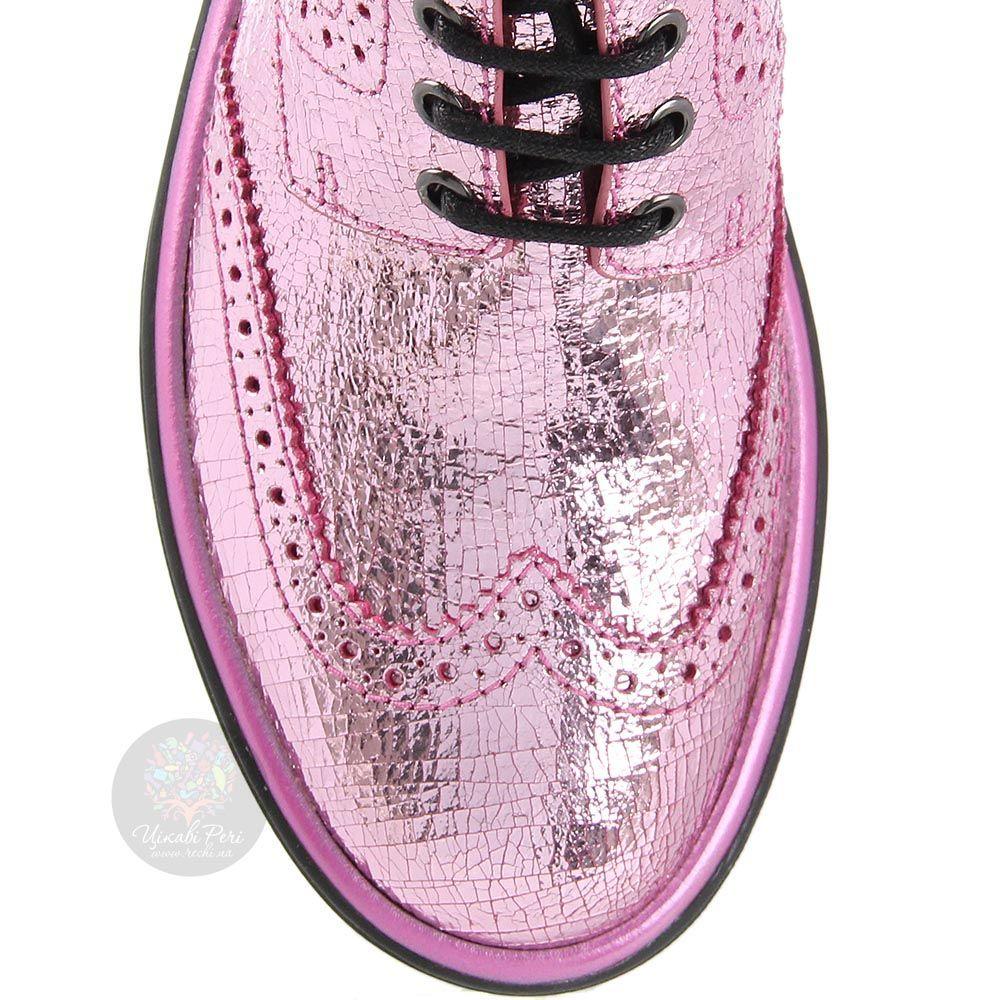 Женские ботинки Marc by Marc Jacobs розового цвета на черной подошве