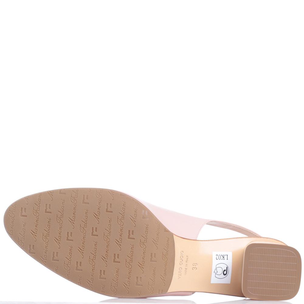 Туфли-слингбэки Marino Fabiani бежевого цвета