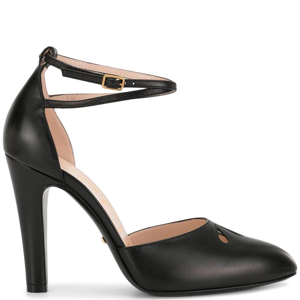 Черные туфли Gucci с ремешком на щиколотке