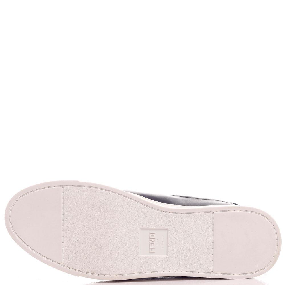 Кеды Fendi без шнуровки на эластичной вставке